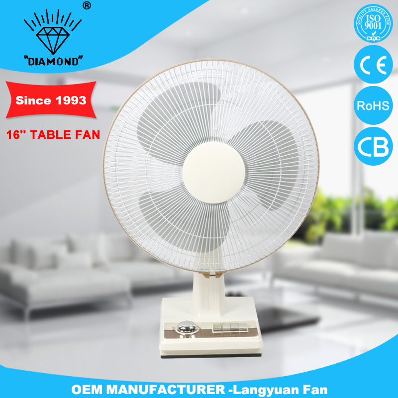 Factory price 16 inch classical small table fan with CE certificate