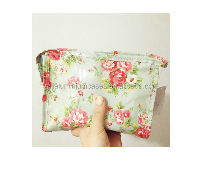 2015 High quality light green ladies cosmetic bag/wholesale cotton tote bag