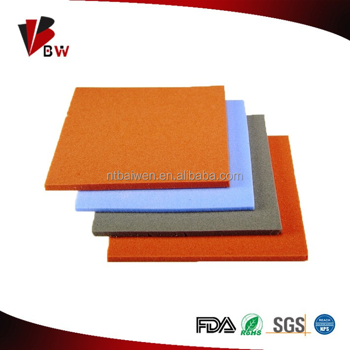 Supply cheap price of silicone rubber foam rubber sheet