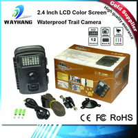 Wide Infrared Scouting CAM 5MP HD Digital Hunting Camera 42pcs IR LEDs Outdoor Trail Camera for Animals Observation