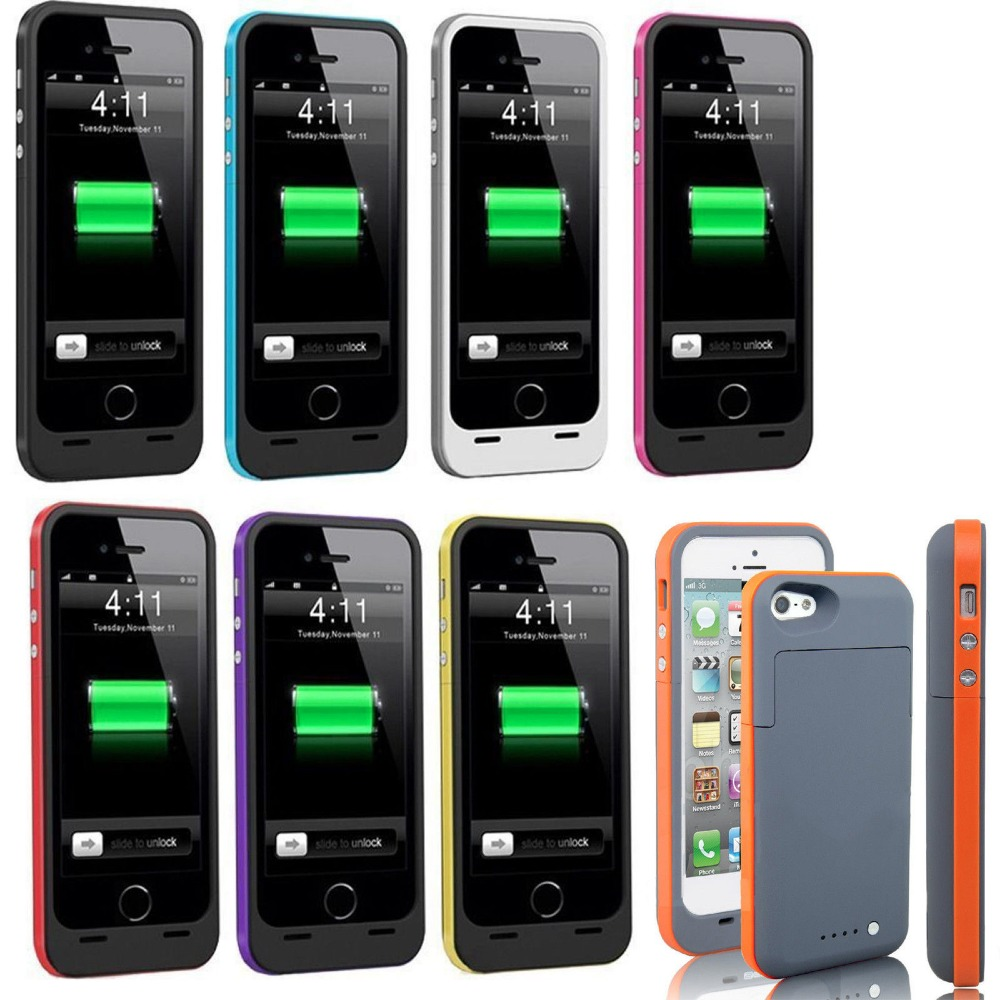 3800mAh External battery backup power bank Charger stents Shockproof cover case for iphone 5 6