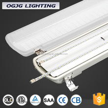 LED vapor tight light fixture CE SAA ETL DLC approved tri-proof water / dust / corrosion proof batten light fitting