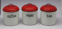Round Storage Container and Canister with Food-Grade Coating