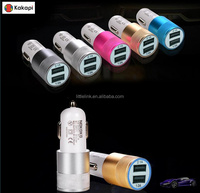 Best Metal Dual USB Port Car Charger Universal 12 Volt / 1 ~ 2 Amp for Apple iPhone iPad iPod / Samsung Galaxy / Motorola Droid