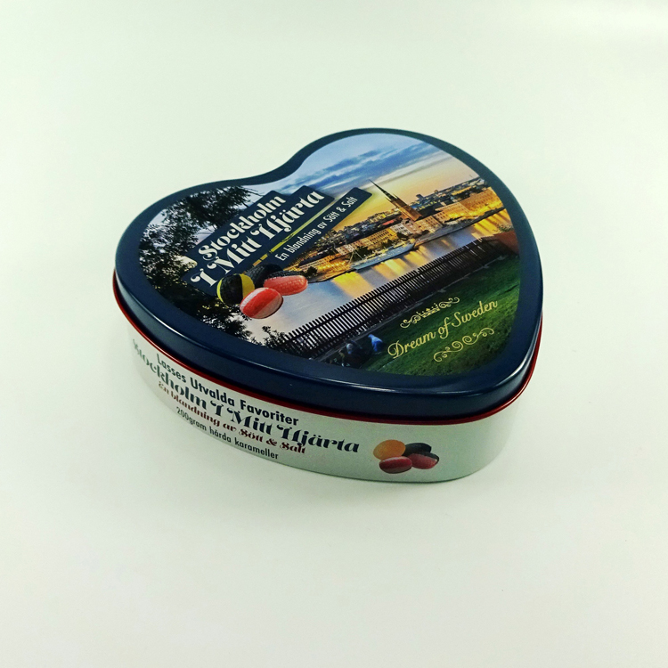 Heart shape Valentines Gift chocolate packaging tin
