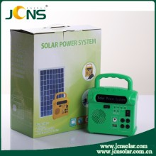 Portable solar power system kit for home rechargeable small solar lighting kit with solar panel kit made of ABS material