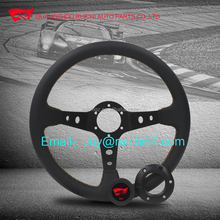 Sliver Spoke Finished JDM Deep Dish Drifting Style Racing Steering Wheel
