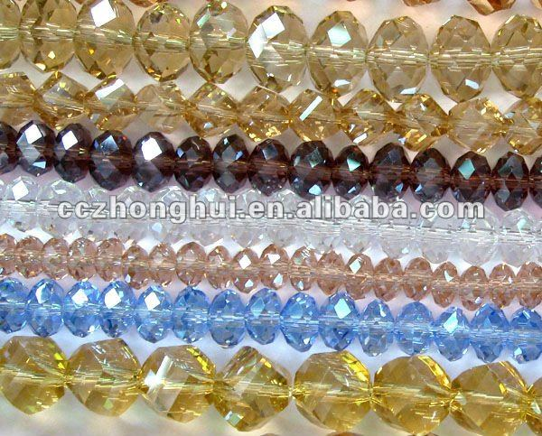 Crystal rondelle faceted glass beads factory wholesale