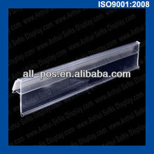 clear plastic extruded curved data strip