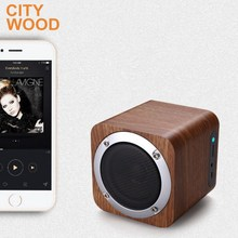 wood portable wireless blue tooth speaker with FM radio