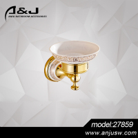 Hot Selling Chrome Finishing Brass Ceramic Bathroom Accessory Soap Dish Wall Soap Dish Holder