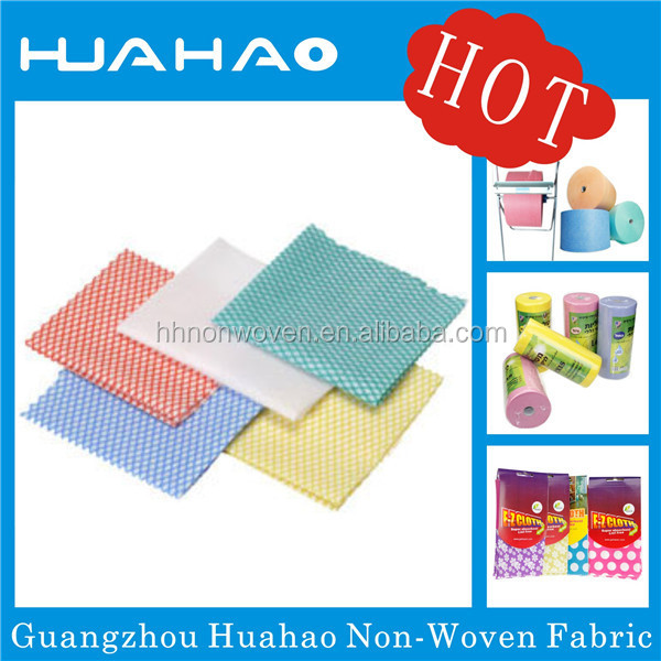 Disposable cleaning wipes nonwoven fabric roll for cleaning clothes
