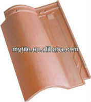 Bright red natural clay roman roof tiles prices for sale