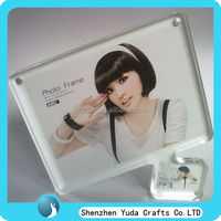 hot sale fashionable design desktop acrylic magnet beautiful girl sex photo frame custom made in China