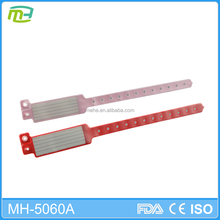 MH-5060A Professional Adult insert cards Pvc Material medical alert wristbands ,patient id bracelet,hospital bracelet
