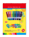 good quality 24colors wax crayon for kids drawing