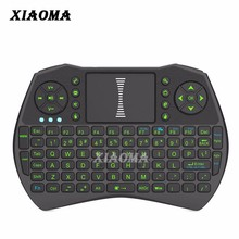 Newest I9 Backlit mini wireless keyboard for samsung smart tv with Built-in Rechargeable Battery