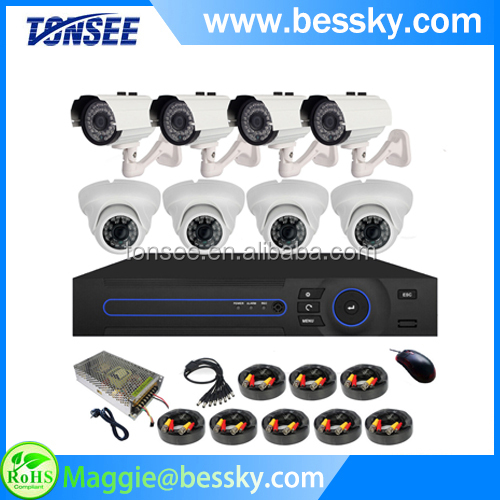 Day & Night IR dome bullet Cameras CCTV Surveillance Package 8 Channel DVR Security Systems