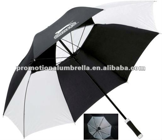 Windproof air vent promotional golf umbrella