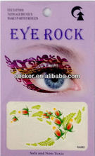colorful flowers print women's sexy eye shadow stickers temporary tattoos