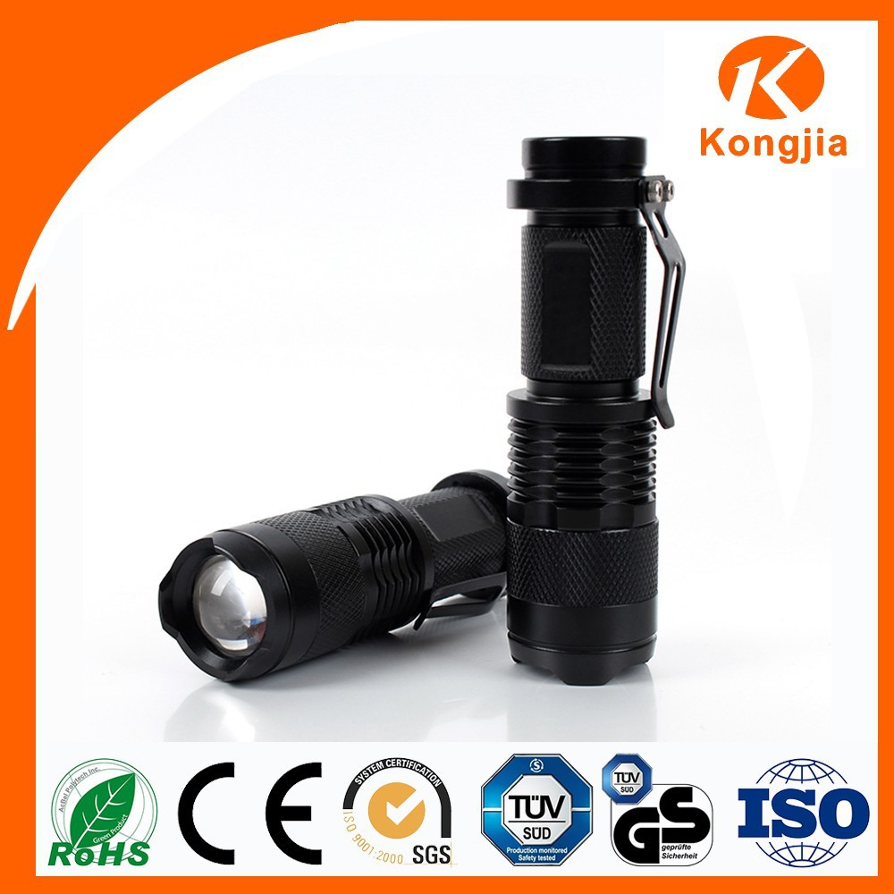 Aluminum Alloy Flashlight Zoom Led Torch Light Portable Colorful Fast Track FlashLight Torches