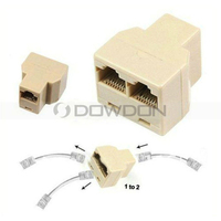 1 to 2 Network Connecter RJ45 LAN Splitter