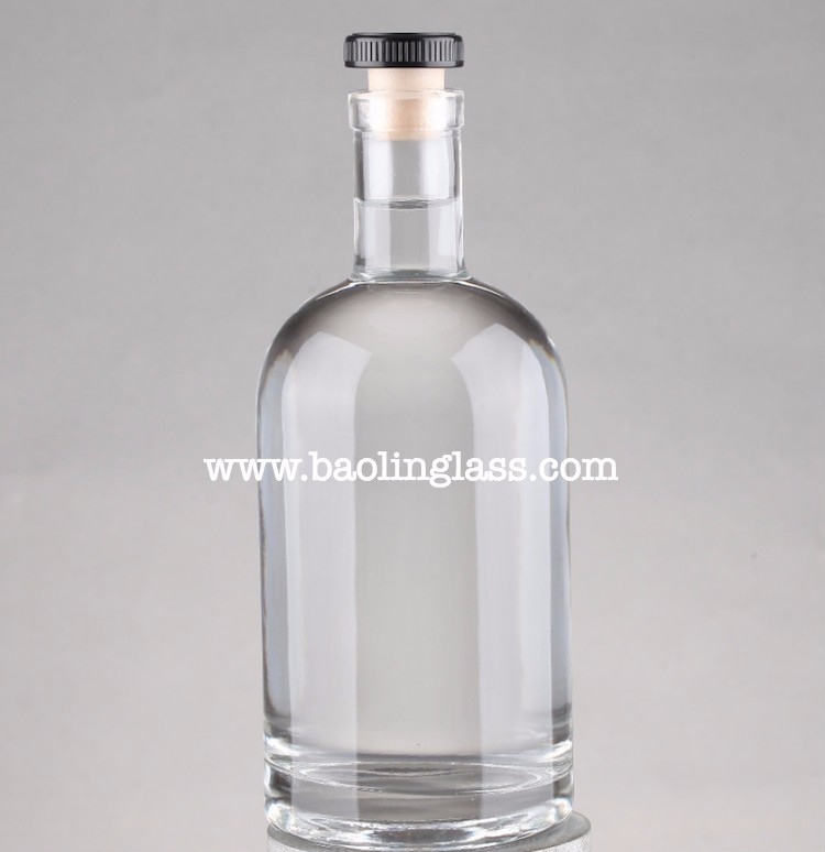 750ml flint screen printed spirits wine glass bottles