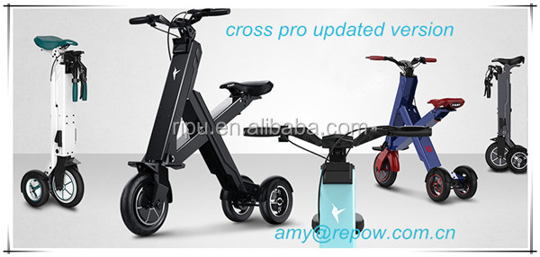 Xbird Cross pro CE 300W Three Wheel electric scooter foldable mini electric bike