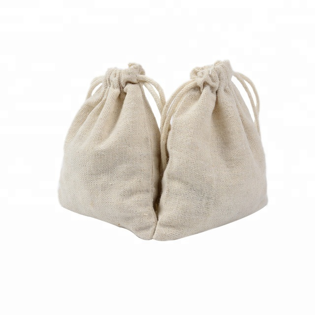 9*12cm Plain Cotton Pouch with Drawstring <strong>Rice</strong>, Tea, Sachet Packing Bags