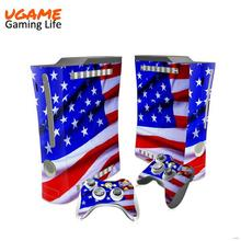 Super quality unique sticker for xbox360 slim console skin