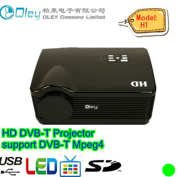 Full HD Digital TV Projector Beamer, DVB-T Projector Projektor 1280 * 800, 3000 Lumens, 1080p (H1)