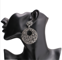 Fashion Retro Luxury Alloy Full Diamond Popular Dance Earrings