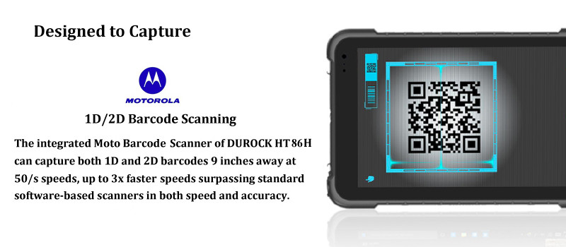 Durock 8 Inch Ip67 Waterproof Handheld Terminal Barcode Scanner Android Windows 10 Rugged Tablet Pc With