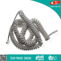 China factory price 4p4c coiled Telephone cable