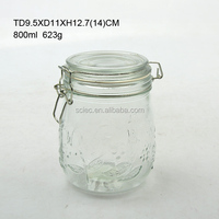 750ml most popular food grade glass candy jar/ bottle