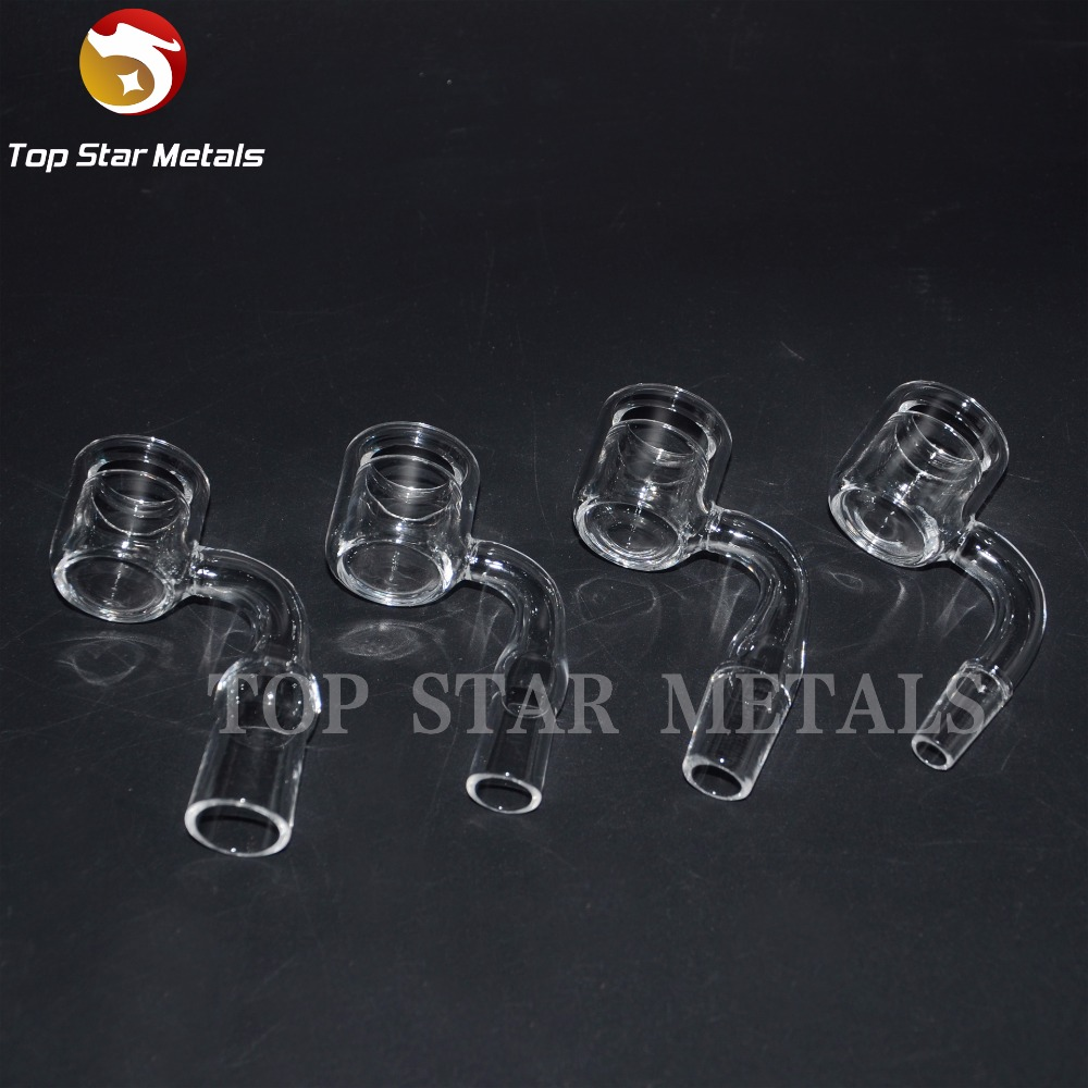 2017 Double Walls Quartz Thermal Banger with Bubble carb cap Male Female Clear Joint Quartz Banger Nail for Glass Smoking