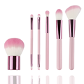 New Model portable 6pcs makeup brush set pink color soft hair cute makeup brushes