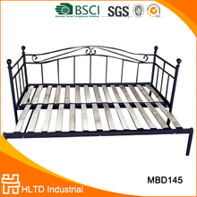 Unique design black wooden metal day bed with trundle