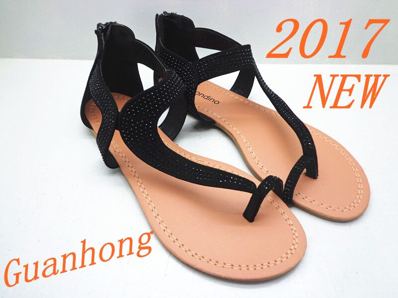 Wholesale China 2017 Guanhong GH1341-1 Fancy Ladies <strong>Sandals</strong>