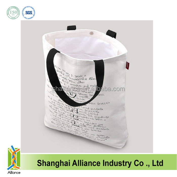 stocked cheap natural silkscreen heat transfer fasion tote printed promotioanl cotton bag