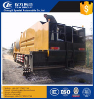 Asphalt crushed stone synchronous seal car vehicle truck Top Quality Sino 16m3 12m3+8m3 rubber asphalt synchronous chip sealer