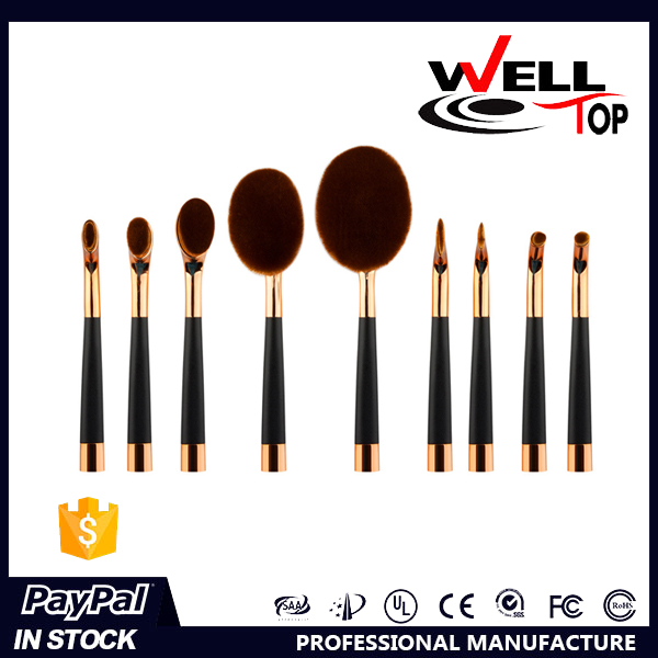 Best selling products professional make up private label oval makeup brush set