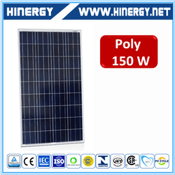 Top rated supplier pv solar panel price 150w with High Efficiency
