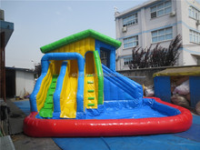 Inflatable Kids Commercial Water Slide with Pool for Sale