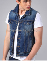 Bulk Wholesale Popular Novel Design Denim Jackets Without Sleeves