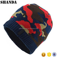 Chinese factory made colorful camo army beanie cap winter hat