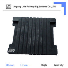 Railway track anti-friction rubber pads