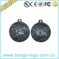 Demi-Marathon Metal Sports Medals with Ribbon