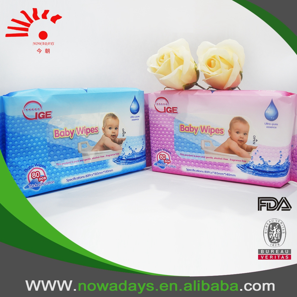 FDA approved baby wet wipes with flip-tops and lid cover