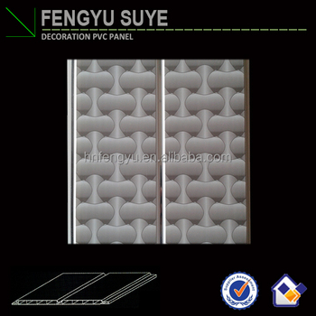 20 cm waterproof pvc artistic ceiling with groove & pvc ceiling panel for bathroom